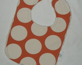 Sweet Potato Big Dots and Chenille Bib