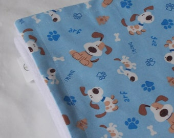Blue Puppies and Minky Security Blanket Lovey