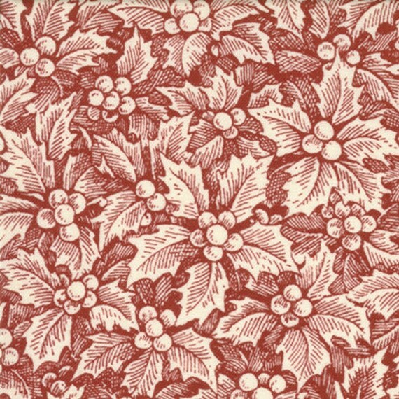 Traditions Holly Red by Sentimental Studios  Moda Christmas Fabrics, 21 Inches