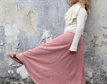 ORGANIC Girls - Long Wanderer Skirt  ( light hemp Knit ) - organic kids clothing
