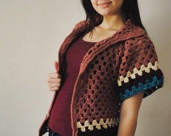 Crochet Vest  Granny Square Vest Afghan Women Teen Girls Vest  Handmade Vest
