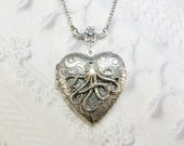 Silver Locket Necklace- The ORIGINAL Silver OCTOPUS LOCKET - by BirdzNbeez - Graduation Day Birthday Friend Sister Gift
