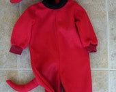 Big Red Dog Costume/Pajamas, size 12 months - READY TO SHIP