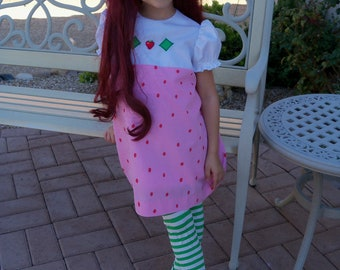 Strawberry Shortcake Girls Size 4-6 Costume