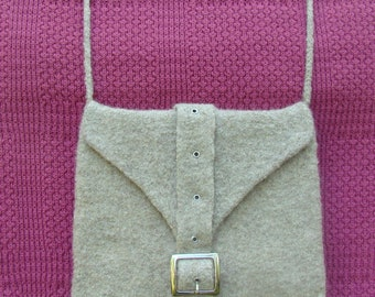 Felted Purse with Strap and Buckle