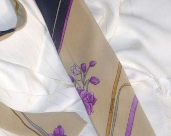 Pure Silk Leonard Paris Necktie  Made in Italy