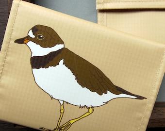 Plover Coin Purse / Pouch / Wallet -- Eco Friendly--Birder Gift