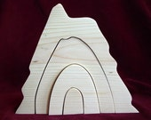 Little Stacker Volcano, Unfinished Pine
