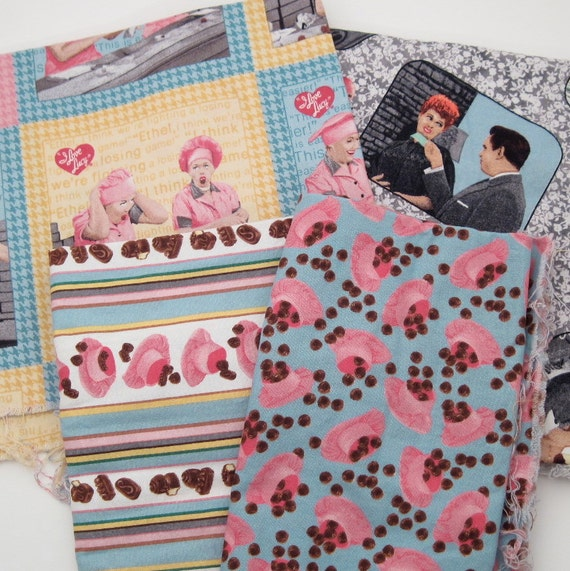 I Love Lucy Chocolate Factory Fabric