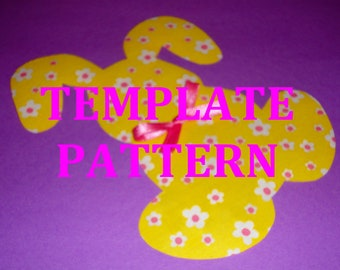 Applique Pdf TEMPLATE Pattern Only...STUFFED BUNNY.....New..2 Sizes