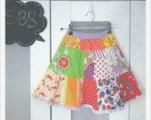 Sbb Patchwork Ruffle MAXI Skirt Size 3-5