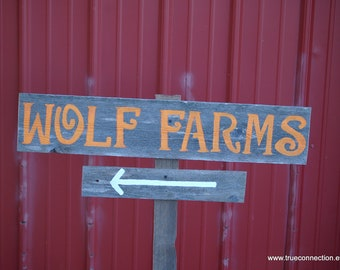 Farm House Sign Gift for Them YOUR WORDS Yard Sign With Stake. Reclaimed Wood Signs. Hand Painted Sign. Directional Road Signs Party Signs