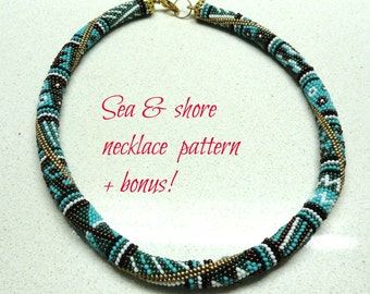 Crocheted  Beads Rope necklace pattern Tutorial and bonus  for personal use only