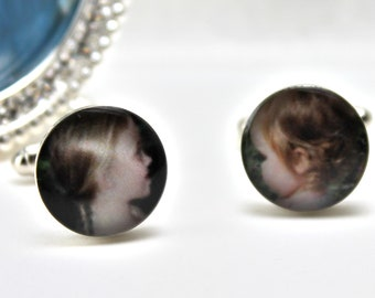 Custom Photo Cufflinks, Photo Cuff Links, Photo Cufflink