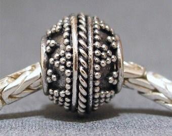 Sterling Silver Big Hole Bracelet Bead No. 17 Spacer European Charm Big Hole Bead