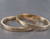 One personalized gold ring, solid gold, 10k or 14k,hammered gold ring, 2mm gold ring,  engraved gold band, custom gold ring, gold posey ring