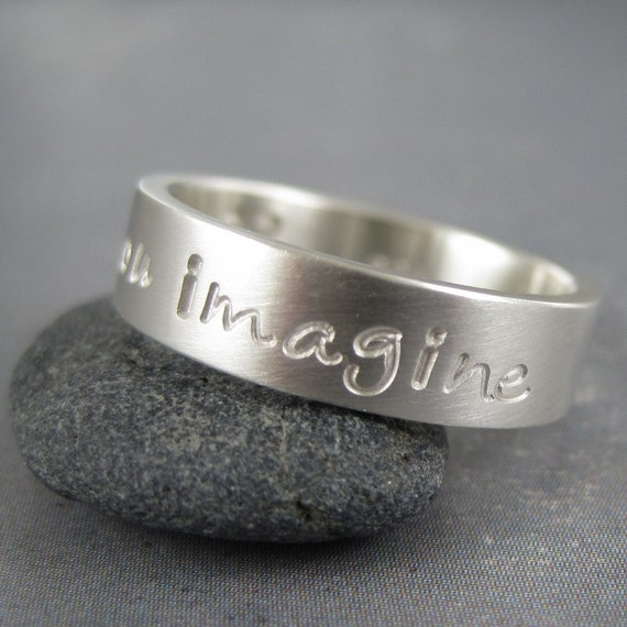 personalized ring in sterling silver by twosilvermoons on etsy