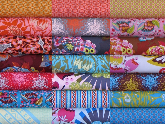 Anna Maria Horner Fabric - Loulouthi Collection - 21 Fat Eighths Bundle