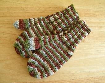 Child Wool Mittens Small Hand Knit Harmony