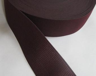 Burgundy elastic, 1 1/2 inches wide
