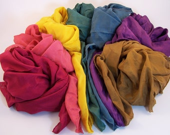 CHOOSE ONE from our Waldorf Inspired EARTH Rainbow Playsilk Set