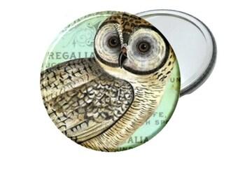 Vintage Owl Image Mirror