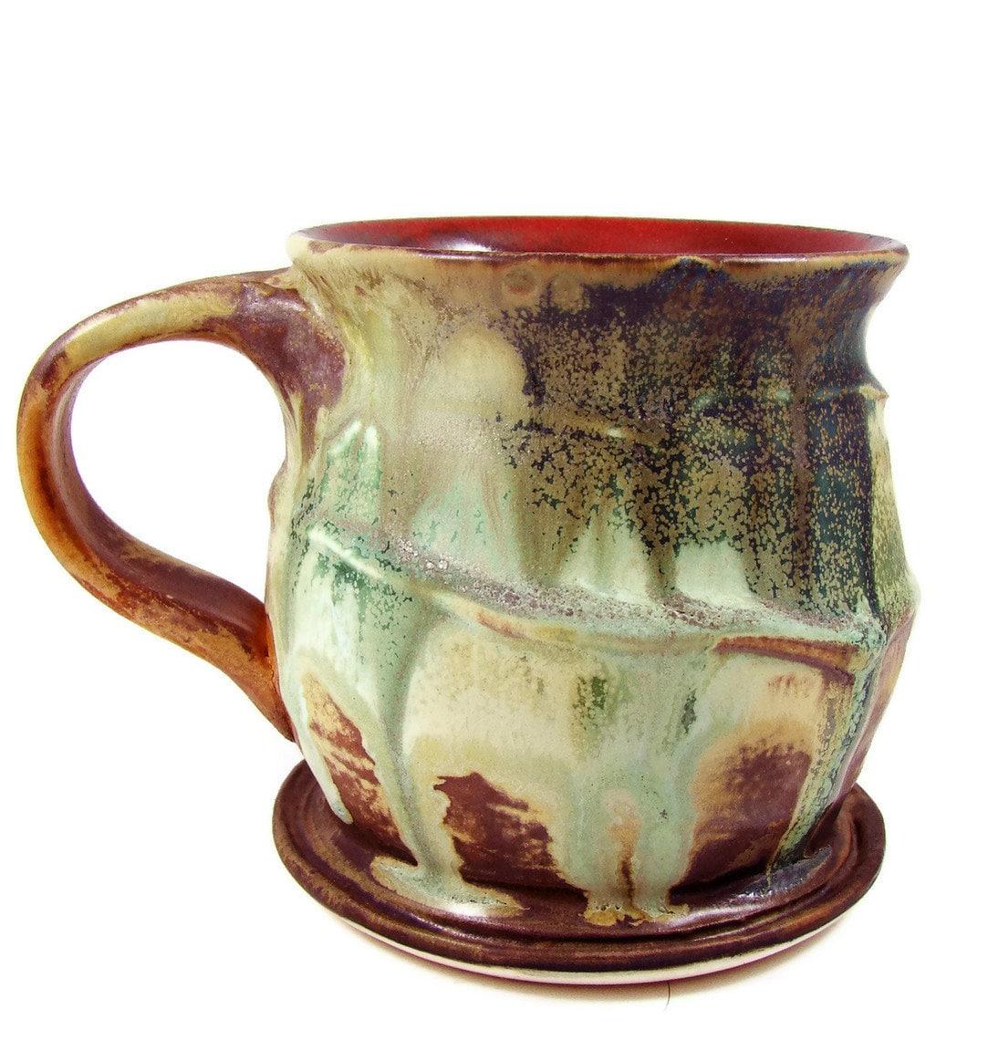 LARGE Ceramic Mug Porcelain Cup Handmade Pottery Mugs