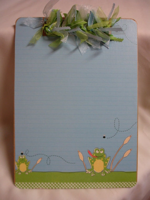 GLITTERED FROGS CLIPBOARD personalized free