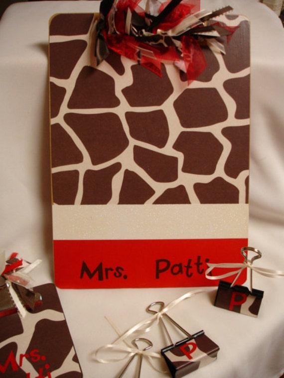 CUSTOM TEACHER CLIPBOARDS Gift Set