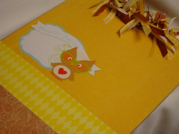 Clearance Sale  OWL CLIPBOARD Smarty Pants