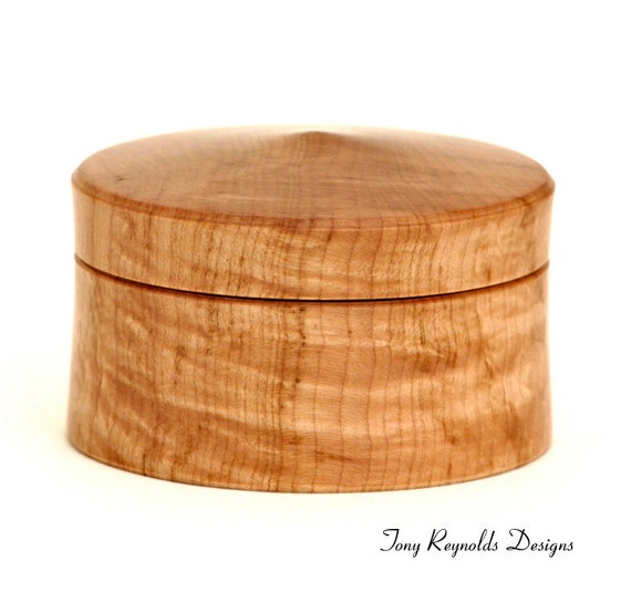 Wood Jewelry / Ring Box -- Curly Maple