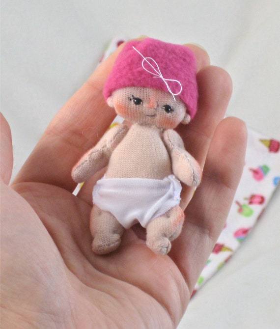 Jayden a One of a Kind Miniature Cloth Baby Doll by BEBE BABIES