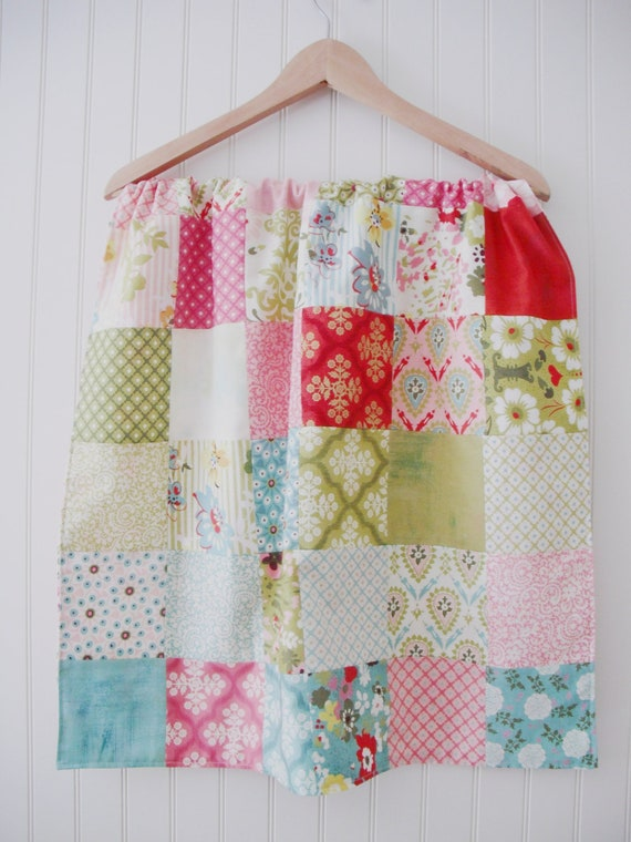 Patchwork baby blanket, tablecloth, table runner