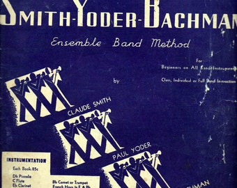 """Vintage 1930s Music Book """"Start Your Band"""" by Smith Yoder Bachman for Clarinet"""