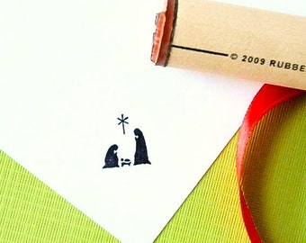 Nativity Rubber Stamp