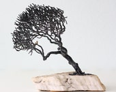 Retro Tree Sculpture with Bird by Bill Webb