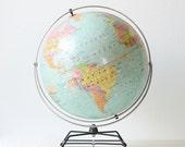"Vintage Globe on Retro Stand - Nystrom 16"" Political Globe"