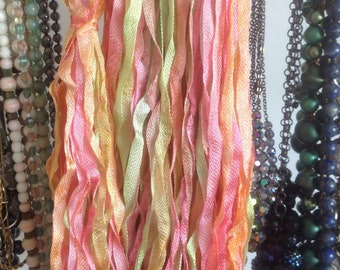 PRISM CHARMEUSSE handdyed ribbon color JELLYBEAN 68yds