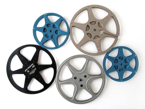 Vintage FILM REELS in Metal Cases - Set of 5 Reels