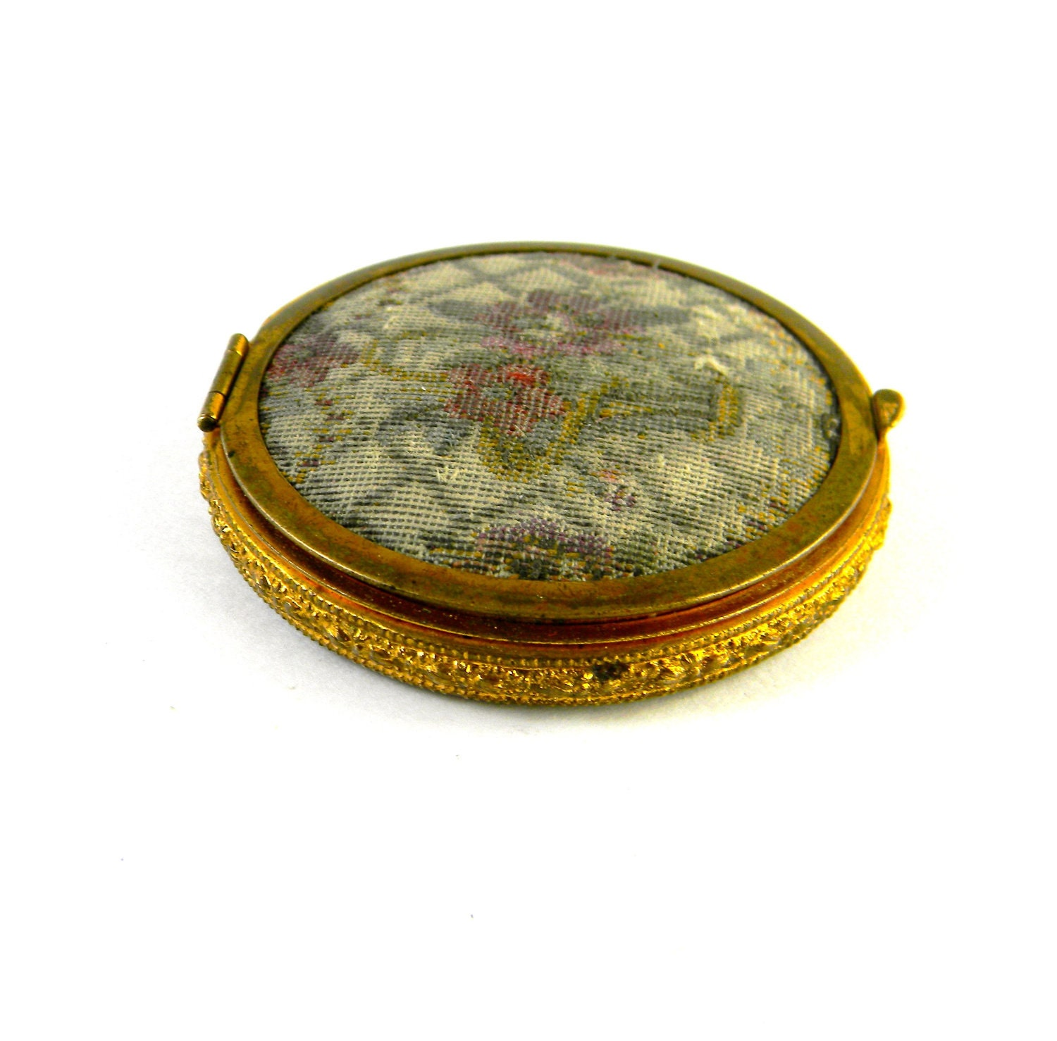 Vintage Compact With Mirror Rouge And Powder By Felicesereno