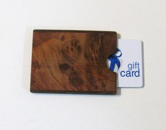 Gift card  Presentation Box Made of Exotic Redwood Burl Wood