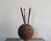 Vintage Cork Pencil holder, Note Holder, Desk Accessory - solsticehome
