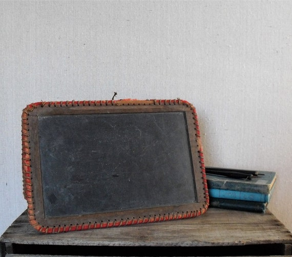 Antique Slate Chalkboard : Folding School Tablet