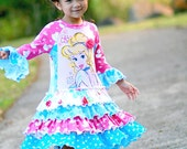 Cinderella Upcycled RTS size 4/5 by Hapa Girl Boutique ....  VHTF knit
