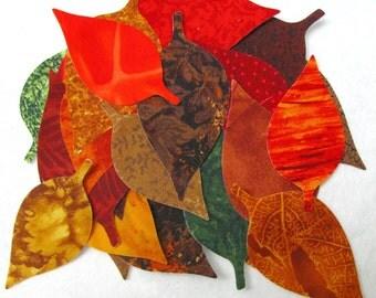 Diecut ELM LEAVES,  diy,  Leaves,  leaf appliques,   Assorted Iron-on TEMPORARILY Fused 100% premium cotton fabric, Precision die cut,