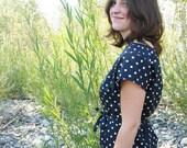 Womens Blouse - Polka Dots - size Medium