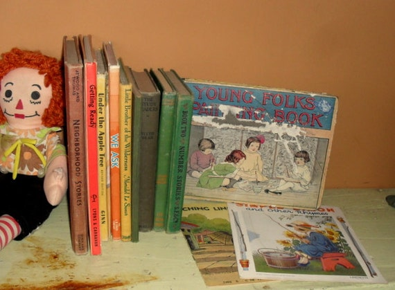 12 Antique and Vintage Childrens Books