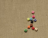 99PC 5mm Square Buttons for Baby/Babydoll Clothes