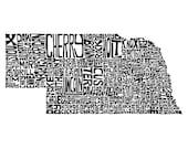 Nebraska - typography map...