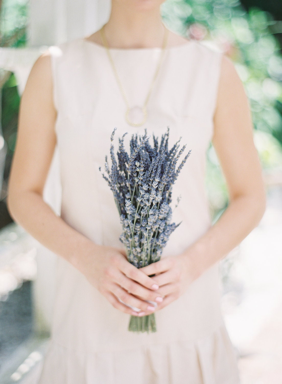 Simple Bridesmaids Wedding Bouquet Of Dried French And English